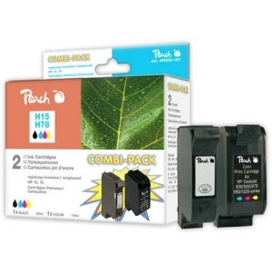 Peach  Spar Pack Druckköpfe kompatibel zu Hersteller-ID: No. 15, C6615D, No. 78, C6578D Tinte