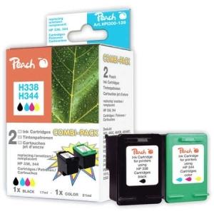 Peach  Spar Pack Druckköpfe kompatibel zu Hersteller-ID: No. 338, C8765E, No. 344, C9363E Toner