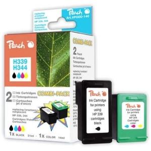 Peach  Spar Pack Druckköpfe kompatibel zu Hersteller-ID: No. 339, C8767E, No. 344, C9363E Toner