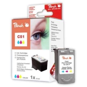 Peach  Druckkopf color kompatibel zu Hersteller-ID: CL-51 Toner