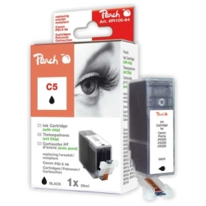 Peach  Tintenpatrone schwarz kompatibel zu Hersteller-ID: PGI-5bk, 0628B001 Tinte