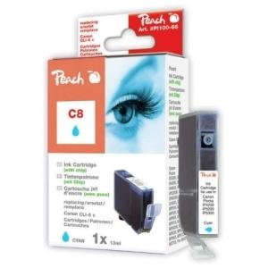 Peach  Tintenpatrone cyan kompatibel zu Hersteller-ID: CLI-8c, 0621B001 Tinte