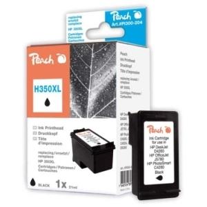 Peach  Druckkopf schwarz kompatibel zu Hersteller-ID: No. 350XL, CB336EE Tinte