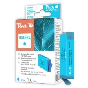 Peach  Tintenpatrone cyan kompatibel zu Hersteller-ID: No. 364XL, CB323EE Tinte