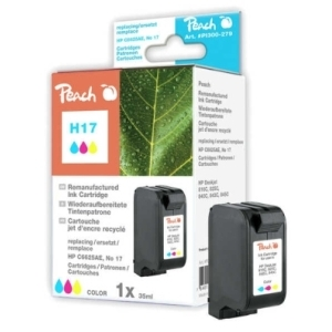 Peach  Tintenpatrone color kompatibel zu Hersteller-ID: No 17, C6625AE Toner