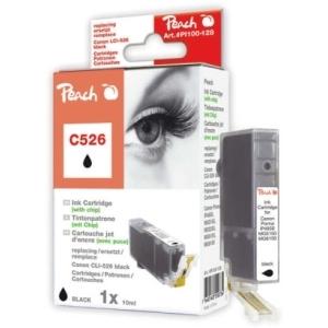 Peach  XL-Tintenpatrone foto schwarz kompatibel zu Hersteller-ID: CLI-526, CLI-526 bk Tinte