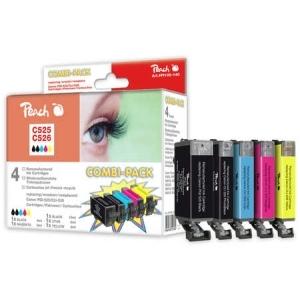 Peach  Spar Pack Tintenpatronen kompatibel zu Hersteller-ID: CLI-526, PGI-525 Toner