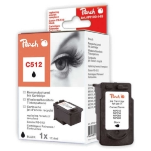 Peach  Druckkopf schwarz kompatibel zu Hersteller-ID: PG-512 Druckerpatronen