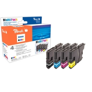 Peach  Spar Pack Tintenpatronen kompatibel zu Hersteller-ID: LC-985VAL Tinte