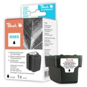Peach  Tintenpatrone schwarz HC kompatibel zu Hersteller-ID: No. 363, C8719EE Tinte