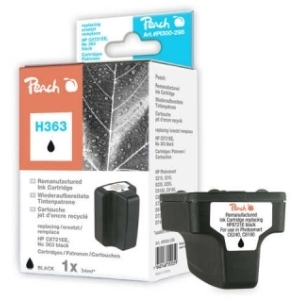 Peach  Tintenpatrone schwarz kompatibel zu Hersteller-ID: No. 363, C8721EE Tinte