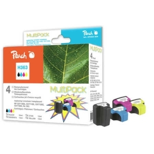 Peach  Spar Pack Tintenpatronen kompatibel zu Hersteller-ID: No. 363 Tinte