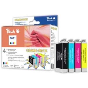 Peach  Spar Pack Plus Tintenpatronen kompatibel zu Hersteller-ID: T0715 Toner