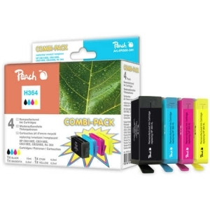 Peach  Spar Pack Tintenpatronen kompatibel zu Hersteller-ID: No. 364, N9J73AE Druckerpatronen