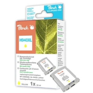 Peach  Tintenpatrone gelb HC kompatibel zu Hersteller-ID: No. 940XL, C4909AE Tinte
