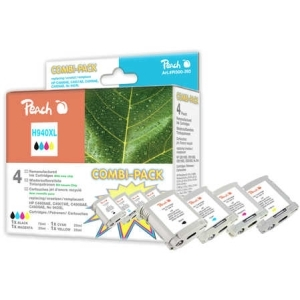 Peach  Spar Pack Tintenpatronen kompatibel zu Hersteller-ID: No. 940XL Druckerpatronen