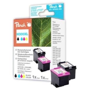 Peach  Spar Pack Druckköpfe kompatibel zu Hersteller-ID: No 300XL black, CC641EE, No 300XL color, CC644EE Druckerpatronen