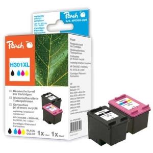 Peach  Spar Pack Druckköpfe kompatibel zu Hersteller-ID: No. 301XL, CH563EE, CH564EE Tinte