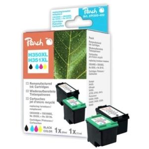 Peach  Spar Pack Druckköpfe kompatibel zu Hersteller-ID: No. 350XL black, CB336EE, No. 351XL color, CB338EE Tinte