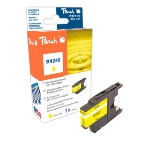 Peach  Tintenpatrone gelb kompatibel zu Hersteller-ID: LC-1240 y Tinte