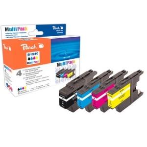 Peach  Spar Pack Tintenpatronen kompatibel zu Hersteller-ID: LC-1240 Tinte