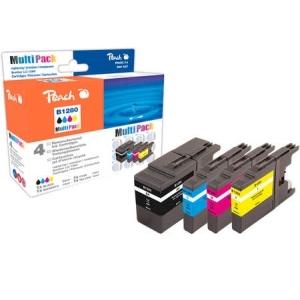 Peach  Spar Pack Tintenpatronen, XL-Füllung, kompatibel zu Hersteller-ID: LC-1280 Druckerpatronen