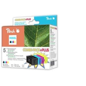 Peach  Spar Pack Plus Tintenpatronen kompatibel zu Hersteller-ID: No. 920XL Tinte