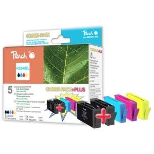 Peach  Spar Pack Plus Tintenpatronen kompatibel zu Hersteller-ID: No. 364XL Druckerpatronen