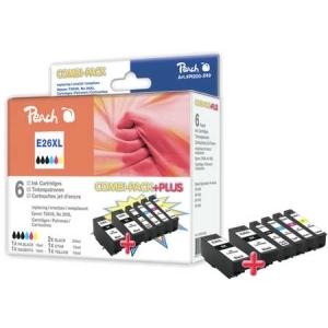 Peach  Spar Pack Plus Tintenpatronen HY kompatibel zu Hersteller-ID: No. 26XL, T263 Tinte