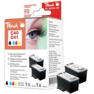 Peach  Spar Pack Tintenpatronen kompatibel zu Hersteller-ID: 0615B043 Druckerpatronen