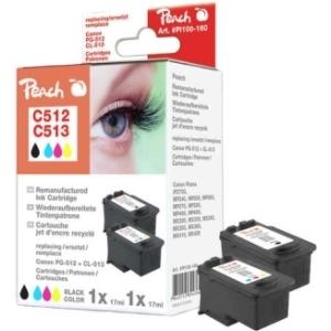 Peach  Spar Pack Druckköpfe kompatibel zu Hersteller-ID: PG-512, CL-513 Tinte