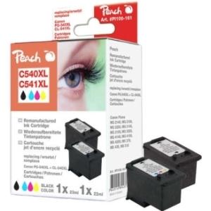 Peach  Spar Pack Druckköpfe kompatibel zu Hersteller-ID: PG-540XL, CL-541XL Druckerpatronen