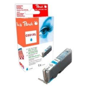 Peach  XL-Tintenpatrone cyan kompatibel zu Hersteller-ID: CLI-551, CLI-551C XL Toner