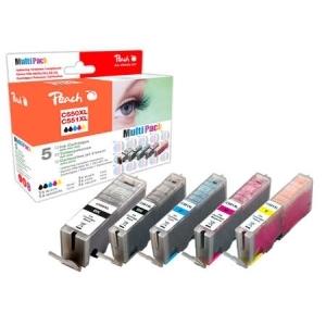 Peach  Spar Pack Tintenpatronen XL-Ergiebigkeit, kompatibel zu Hersteller-ID: PGI-550XL, CLI-551XL Tinte