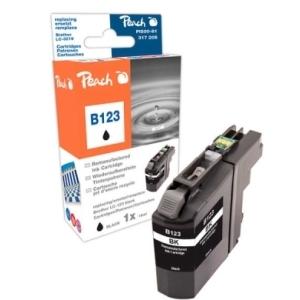 Peach  Tintenpatrone schwarz kompatibel zu Hersteller-ID: LC-123 Druckerpatronen
