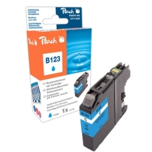 Peach  Tintenpatrone cyan kompatibel zu Hersteller-ID: LC-123 Tinte
