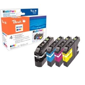 Peach  Spar Pack Tintenpatronen kompatibel zu Hersteller-ID: LC-123 Tinte