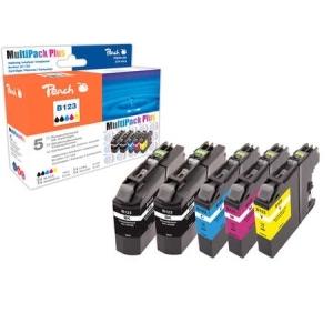 Peach  Spar Pack Plus Tintenpatronen, kompatibel zu Hersteller-ID: LC-123 Toner