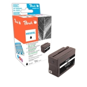 Peach  Tintenpatrone schwarz HC kompatibel zu Hersteller-ID: No. 932XL, CN053AE Tinte