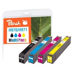 Peach  Spar Pack Tintenpatronen kompatibel zu Hersteller-ID: No. 970, No. 971 Tinte