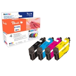 Peach  Spar Pack Tintenpatronen kompatibel zu Hersteller-ID: T1636, T163 Toner