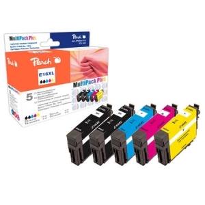 Peach  Spar Pack Plus Tintenpatronen, kompatibel zu Hersteller-ID: T1636, T163 Toner