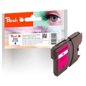 Peach  XL-Tintenpatrone magenta kompatibel zu Hersteller-ID: LC-1100, LC-980 Tinte