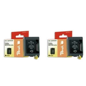 Peach  Doppelpack Druckköpfe schwarz kompatibel zu Hersteller-ID: BX-3 Tinte