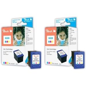Peach  Doppelpack Druckköpfe color kompatibel zu Hersteller-ID: No. 28, C8728AE Druckerpatronen