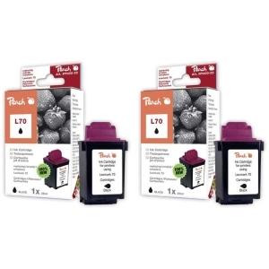 Peach  Doppelpack Druckköpfe schwarz kompatibel zu Hersteller-ID: 12A1970 Druckerpatronen