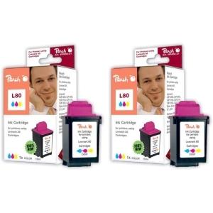 Peach  Doppelpack Tintenpatronen color kompatibel zu Druckerpatronen