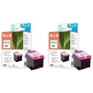 Peach  Doppelpack Druckköpfe color kompatibel zu Hersteller-ID: No. 300XL, CC644EE Druckerpatronen