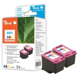 Peach  Doppelpack Druckköpfe color kompatibel zu Hersteller-ID: No. 901, CC656AE Tinte