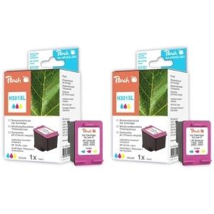 Peach  Doppelpack Druckköpfe color kompatibel zu Hersteller-ID: No. 301XL, CH564EE Tinte